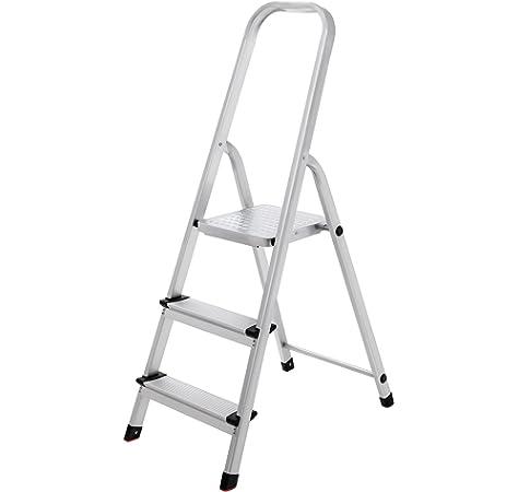 Escalera Rolser Aluminio Norma 220 3 Peldaños anchos: Amazon.es: Hogar