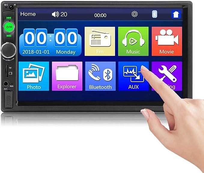 Camecho Bluetooth 2 Din Autoradio 7010b 7 Zoll Touchscreen Mirror Link Für Ios Android Phone Fm