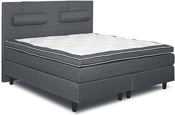 Cama con somier cama 160 x 200 cm gris: Amazon.es: Bricolaje ...