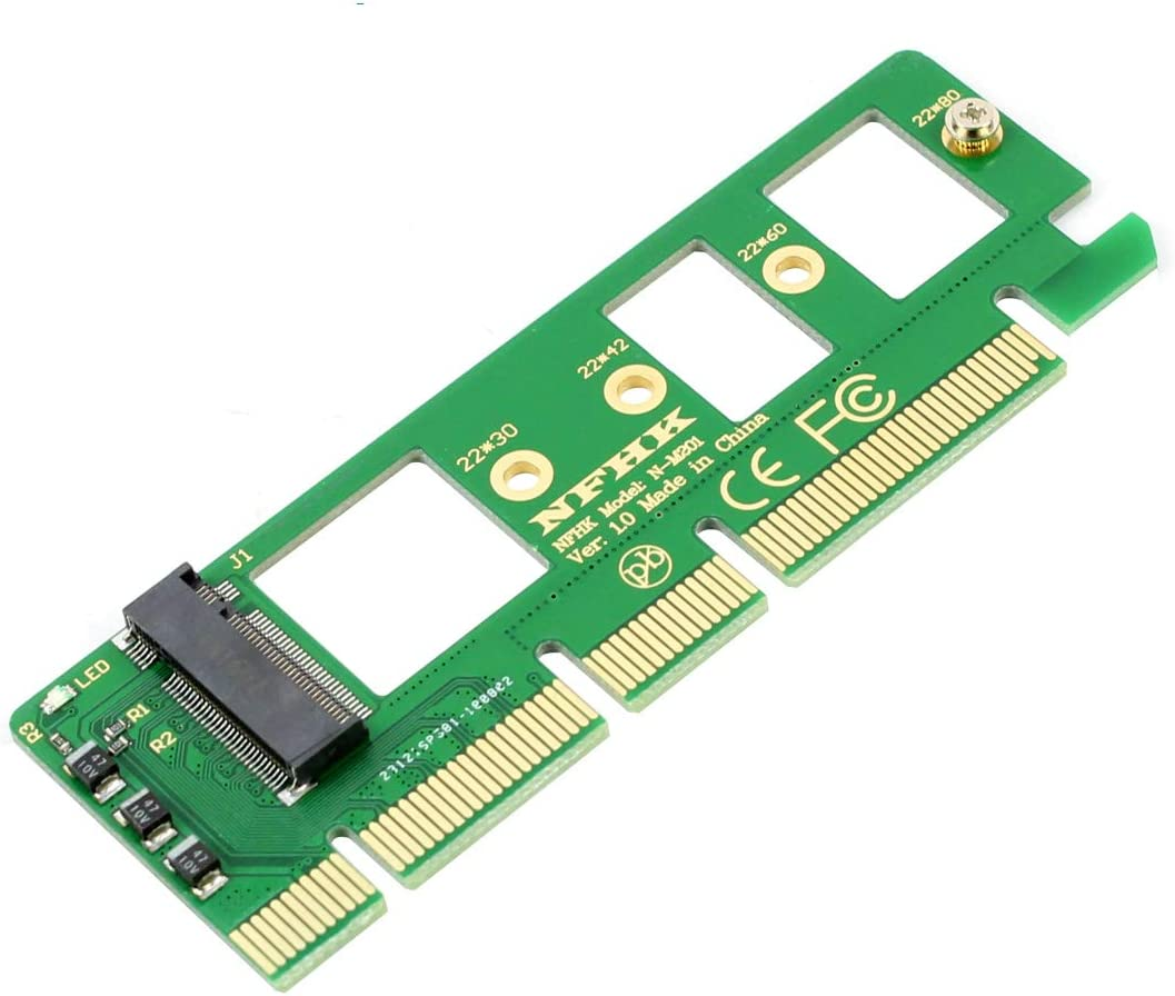 YOUKITTY 10pcs//lot Motherboard PCI-E 3.0 16x 4X Adapter to NGFF M-Key NVME AHCI SSD for XP941 SM951 PM951 970 960 EVO SSD