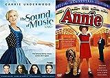 Annie Special Editon Musical DVD Set & The Sound of Music Live Movie family Bundle Set