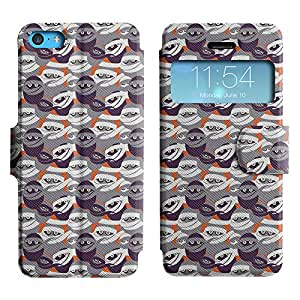 LEOCASE el ninja Funda Carcasa Cuero Tapa Case Para Apple iPhone 5C No.1004901