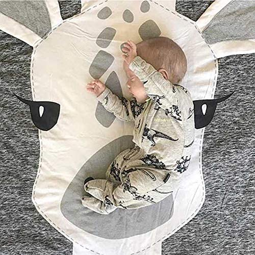 belupai Cartoon Crawling Mat Baby Infant Playmat Blanket Play Game Mat Room Decoration Round Crawling Activity Pad Carpet Floor Home Rug Gift