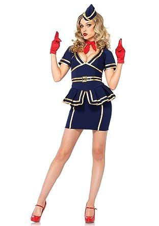 ae119fe67c0 Leg Avenue Women's 3 Piece Friendly Skies Flight Attendant Costume