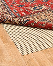 NaturalAreaRugs Eco Hold Rug Pad, Machine Made by Artisan Rug Makers, 100% Premium Plant Oil, Anti-Static, Durable, Stain Resistant, Eco/Environment-Friendly, (6 Feet x 9 Feet) Beige Border