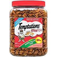 TEMPTATIONS MixUps Treats for Cats CATNIP FEVER Flavor 6.3 Ounces (Pack of 10)