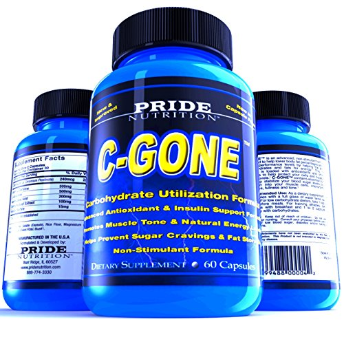 #1 Fat Burner - C-GONE 60 Pills - Best Carb Blocker and Fat Absorber - Non-Stimulant Weight Loss Supplement with Chromium Picolinate, Carnitine, Glutamine, ALA, Gymnema Extract and Vanadyl Sulfate