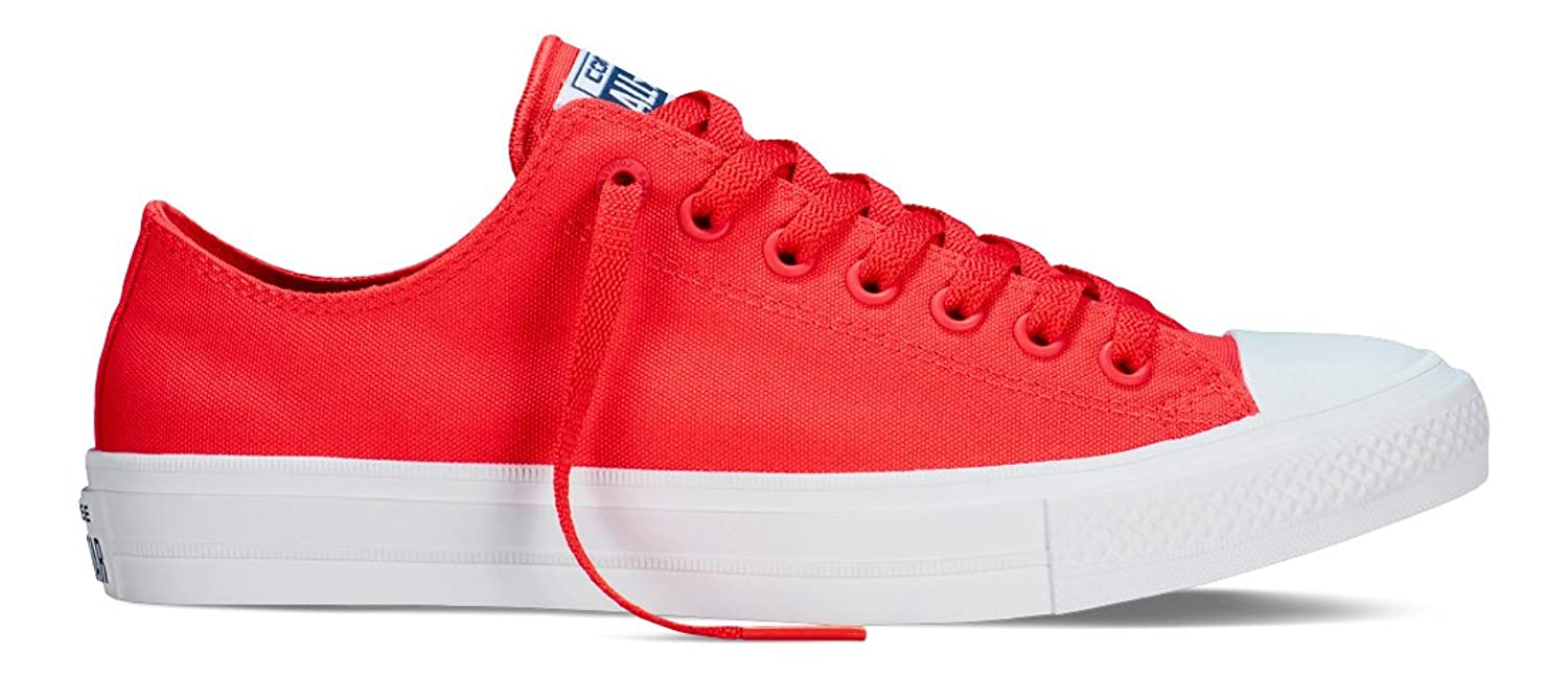 Converse Chuck Taylor All Star II C151123, Baskets Basses Mixte Adulte, Rouge (Red/Navy/White), 43 EU