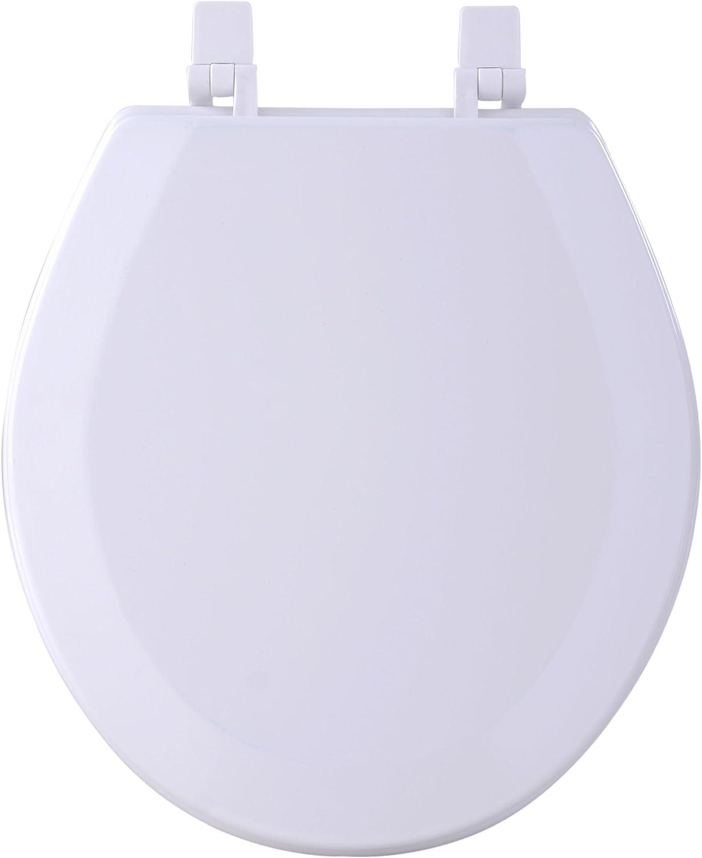 Achim Home Furnishings White TOWDSTWH04 17-Inch Fantasia Standard Toilet Seat, Wood