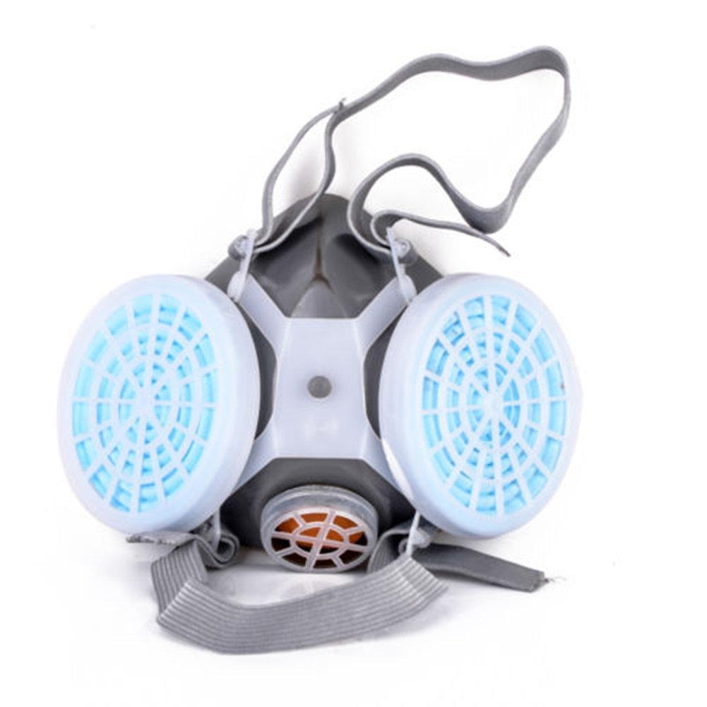 Flyes Nuovo doppio anti-polvere gas maschera respiratoria Twin Chemical spray vernice di sicurezza copricapo