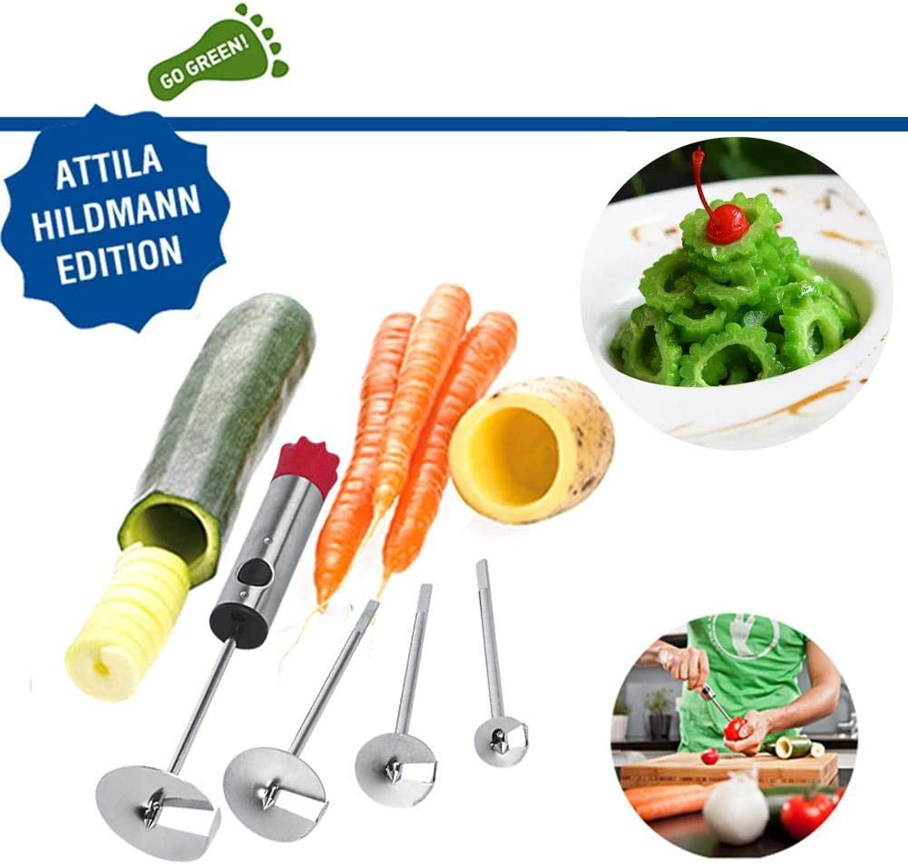 And Other Veggies Vegetable Corer Drill Fruit Corer With Anti-Slip Handle Potato Carrot 4 Sizes Veggie Drill For Coring And Hollowing Out Zucchini
