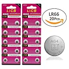 LiCB 20 Pack Battery 1.5V Button Cell Watch Batteries SR626SW 377 626
