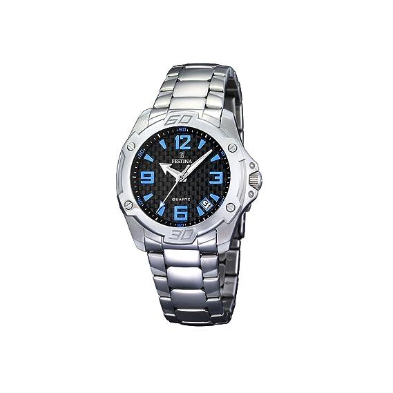 FESTINA F16387/2 - Reloj de mujer de cuarzo, correa de acero inoxidable color