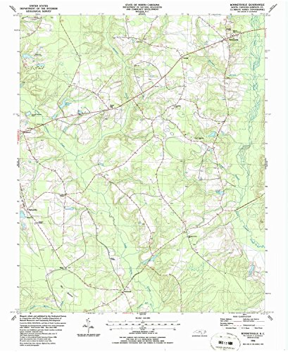 Bonnetsville NC topo map, 1:24000 scale, 7.5 X 7.5 Minute, Historical, 1986, updated 1986, 26.9 x 22 IN - - Mills North Concord Carolina