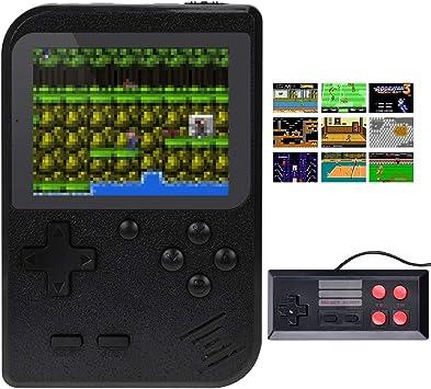 TAPDRA Consola de Juegos portátil, Consola de Juegos Retro con 400 Juegos clásicos, Pantalla de 3.0 Pulgadas, portátil para conectar TV y Dos Jugadores, Buenos Regalos para niños (Negro): Amazon.es: Juguetes y