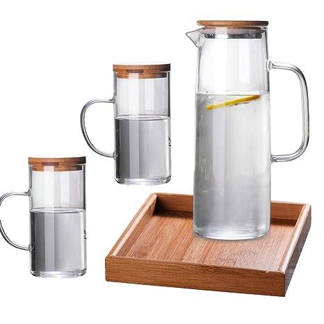 Tetera ZHAOSHUNLI Set Prueba de Calor de Vidrio Botella de Agua fría Set de Botella de