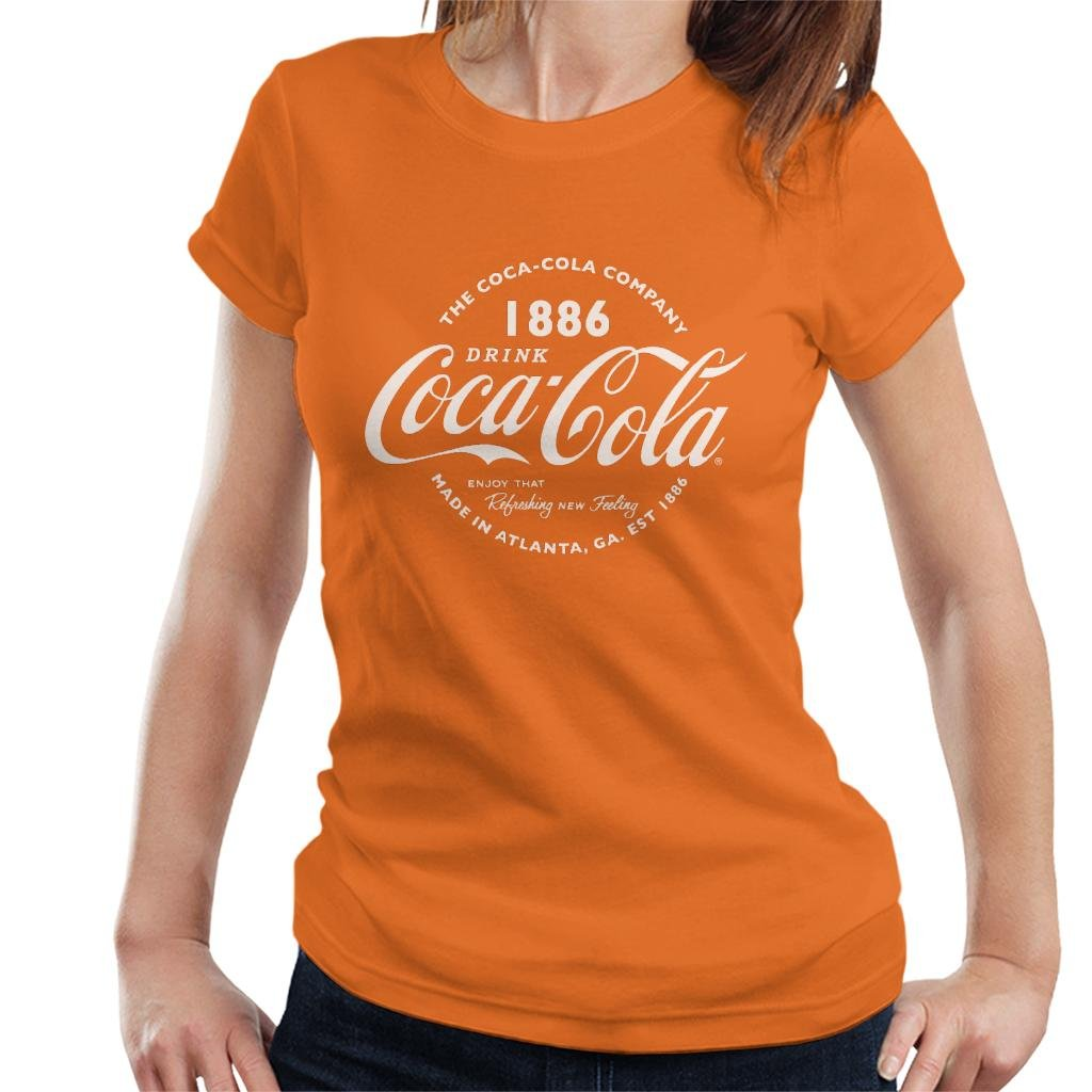 Coca Cola Retro Logo Text T Shirt 2607