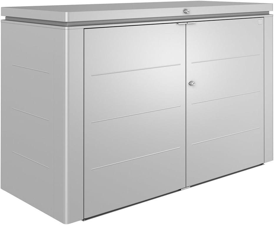Biohort Heavy Duty Highboard 200 3x6 Caja de Almacenamiento de Metal para jardín, Color Plateado