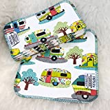Camping Glamper 12 Pack ECO CLOTH WIPES//100% Cotton ~ Large 8x8'' ~ Double Layer/2 ply by Primm n Proper Baby