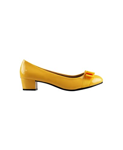 c143777f848b9f KRISP Ballerines Talon Nœud Vernis Chic: Amazon.fr: Chaussures et Sacs