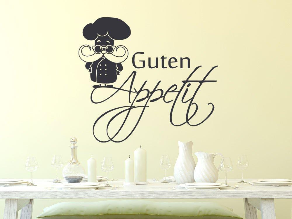 GRAZDesign 620576_40_821 Wandtattoo Küche Guten Appetit mit Koch ...