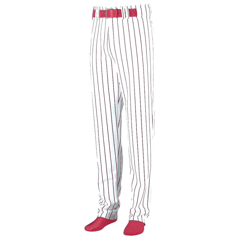 Augusta Sportswear Youth/Boys Open Bottom Pinstripe White/Maroon Baseball Pant SZ. M for sale