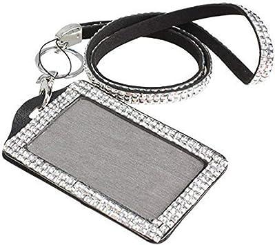 Lanyard NOT included Rhinestone Bling Bling Crystal Horizontal ID Badge Holder