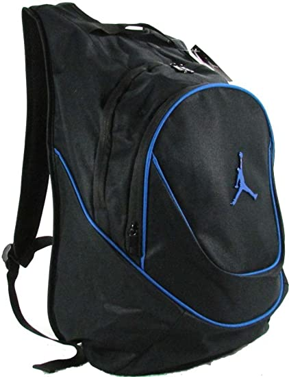 Amazon.com  Nike Jordan Jumpman23 Backpack (Black Blue)  Sports   Outdoors f238a6e43c