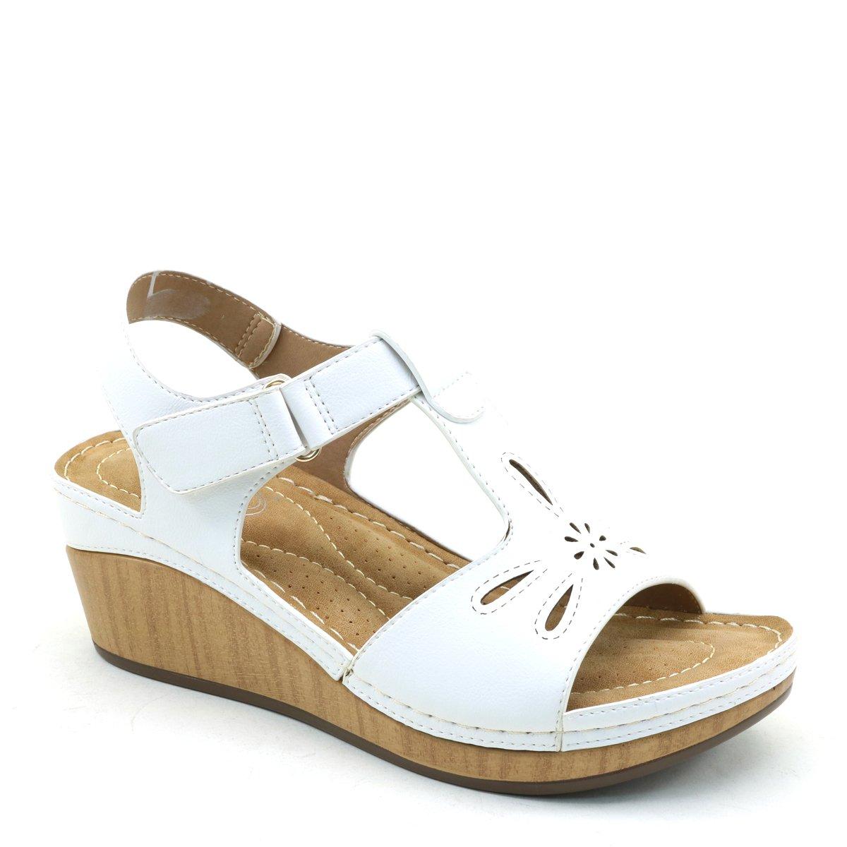Master New Women's Comfort Wedge Flatform Sandals B07CMQL4F1 6.5 B(M) US|White