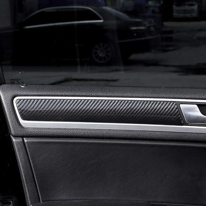 Accesorios de la guarnición de la cubierta del panel de la puerta interior del coche de la fibra de carbono real para Touareg 2011-2018: Amazon.es: Coche y ...