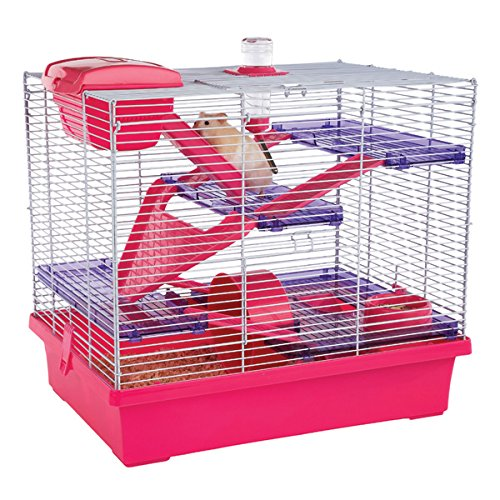 Options Small Animal Pico Xl Hamster Cage Pink 50x36x47cm (Pack of 2)