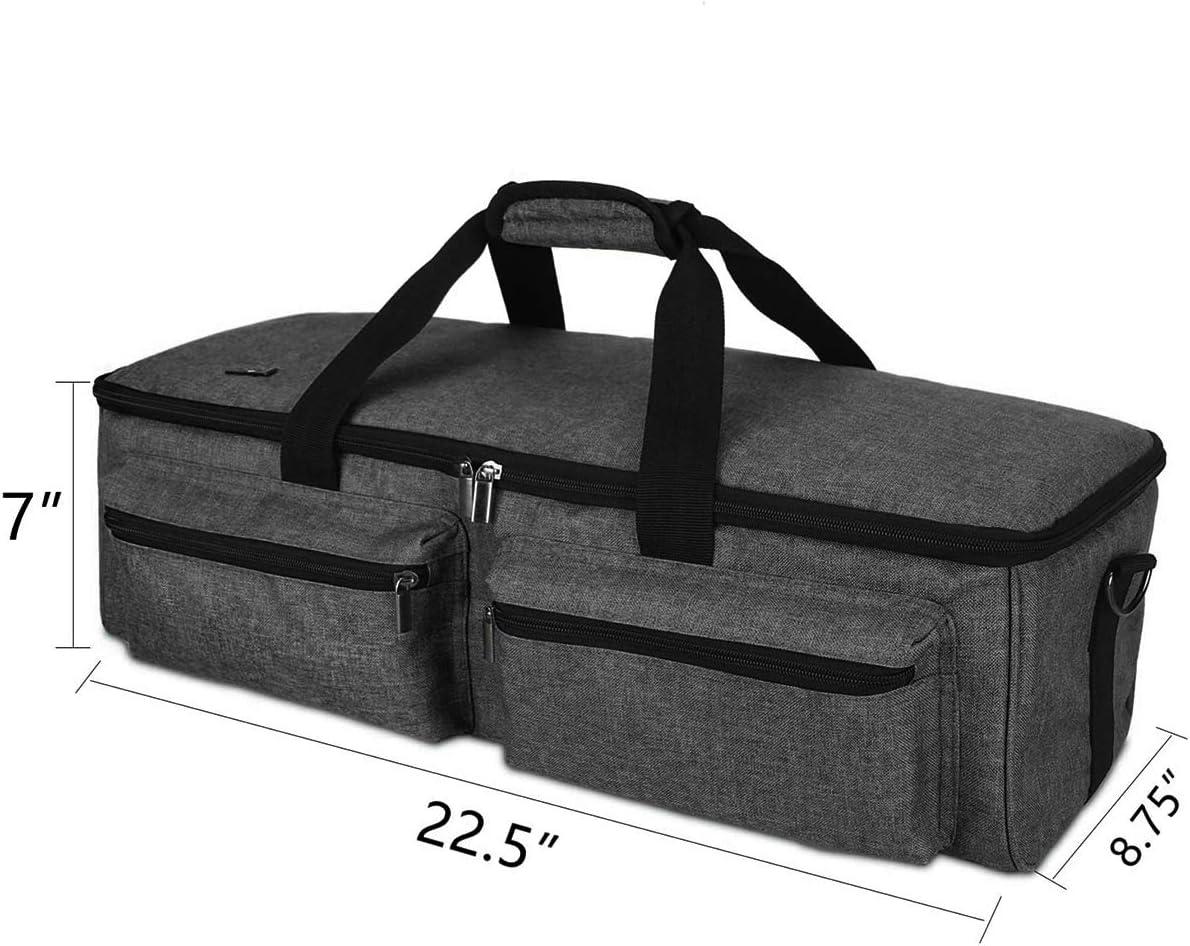 Estuche de Transporte de Bolsa Cricut Compatible con Cricut Explore Air Cricut Maker Silhouette Cameo 4 Bolso Liviano para Accesorios Y Suministros para M/áquinas Troqueladas