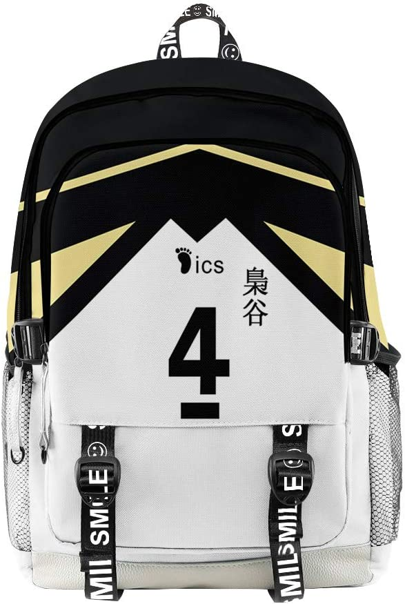 Topcos Haikyuu Cosplay Shoulder Bag Rucksack Volleyball Backpack Daypack Travel Bag Bookbag Laptop Bag (Fukurodani-4)
