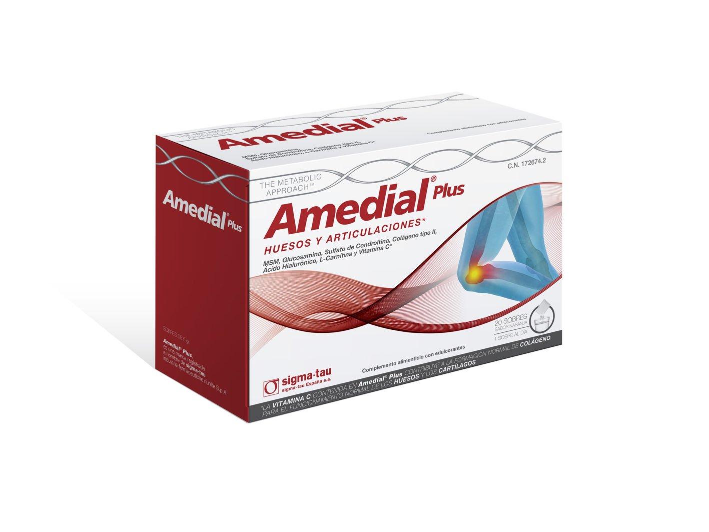 Amazon.com: Amedial Plus 40 Sobres Glucosamina, Condroitin, Hialuronico, Colageno Tipo Ii: Baby