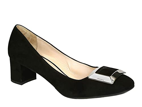 Prada Heels Pumps Shoes in Black Suede Leather - Model Number  1I289E XQS  F0002 - c8c5fd667