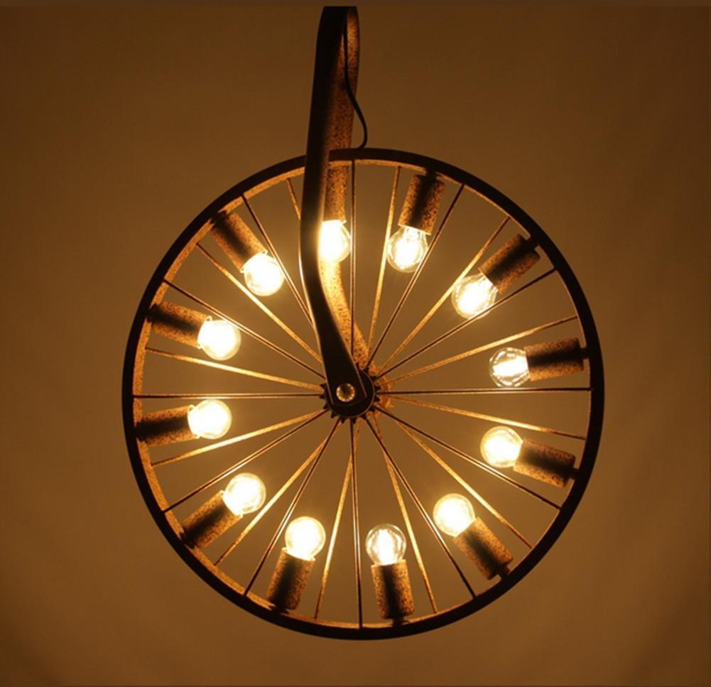 FWEF Eisen Kronleuchter Nordic Café Restaurant Retro-Beleuchtung Stabeisen Kreative Persönlichkeit Beleuchtung Lampen