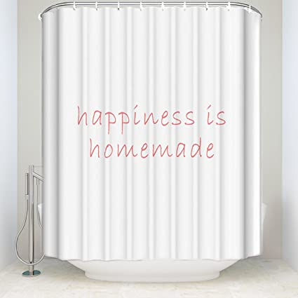 Amazon Shower Curtain Happiness Is Homemade Pattern Funny Soft