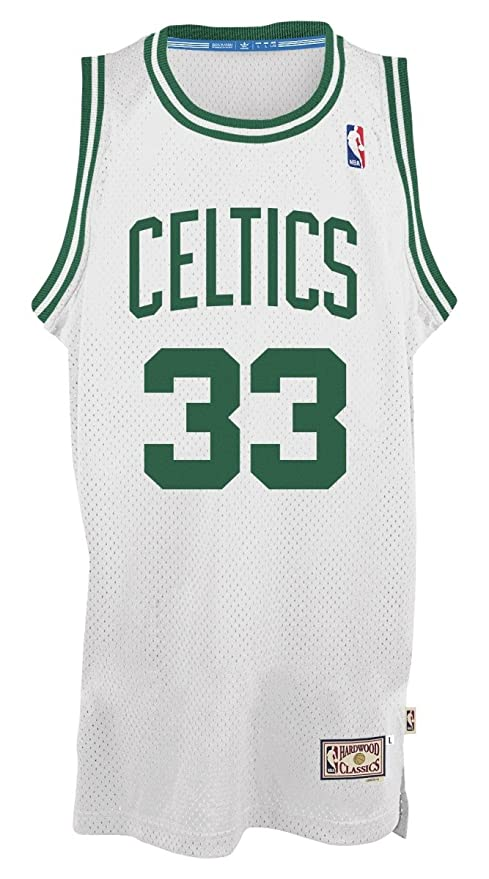 Larry Bird Boston Celtics Adidas NBA - Camiseta de Manga Corta, Color Blanco, Color