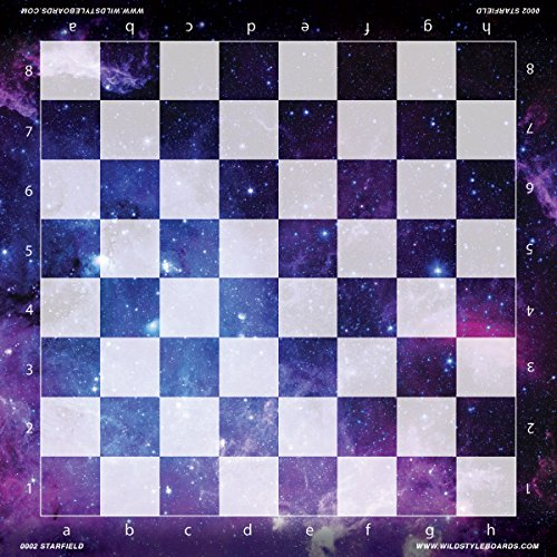 Starfield - Full Color Vinyl Chess Board by Wild Style Boards