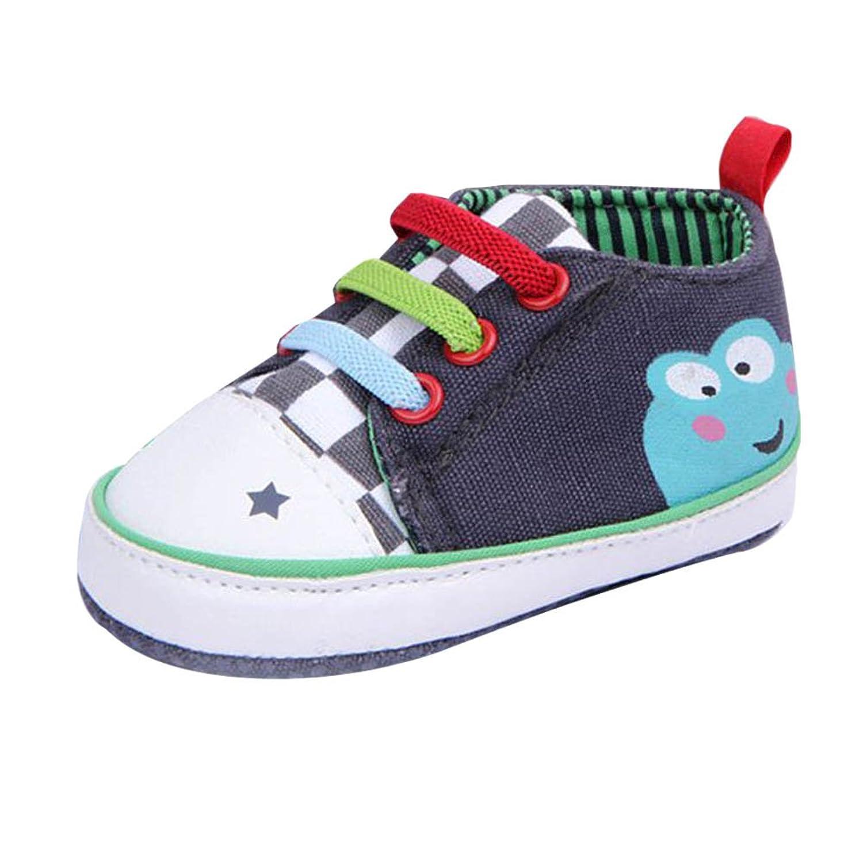 Xiangze Bebé zapatos cuna suave zapatos (L(9-12 meses), Azul)