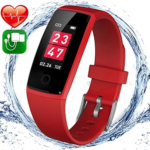 wonlex Fitness Tracker, Activity Tracker Watch with Heart Rate Monitor Blood Pressure Monitor for Men Women, IP67 Waterproof Smart Bracelet Pedometer Wristband for iOS & Android