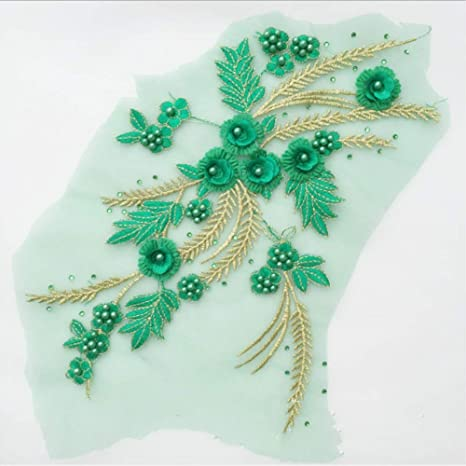 3D Lace Flower Applique Patches Embroidery Sew Iron On Crafts Cloth Decor Access