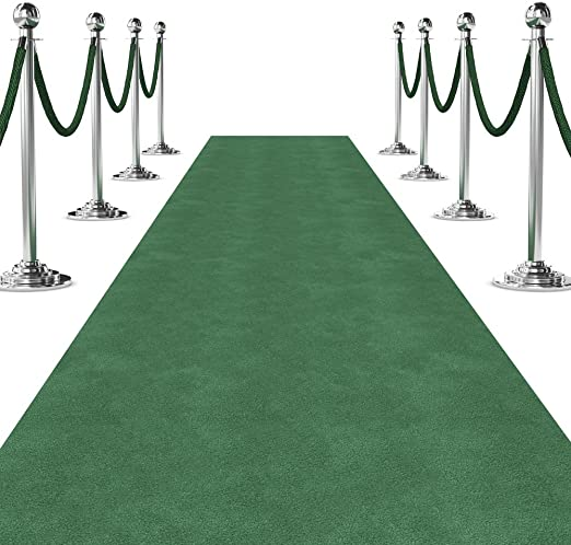 Amazon Com Green Carpet Aisle Runner For Events 3 Ft Wide X 10 Ft Long Green Kitchen Dining
