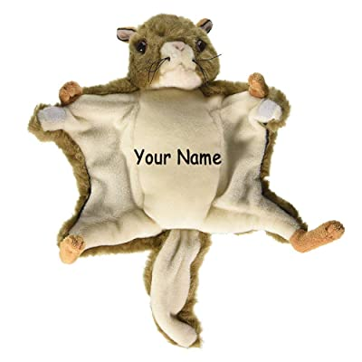 Personalized Flying Squirrel Fuzzy Plush Stuffed Animal Toy with Custom Names: Toys & Games