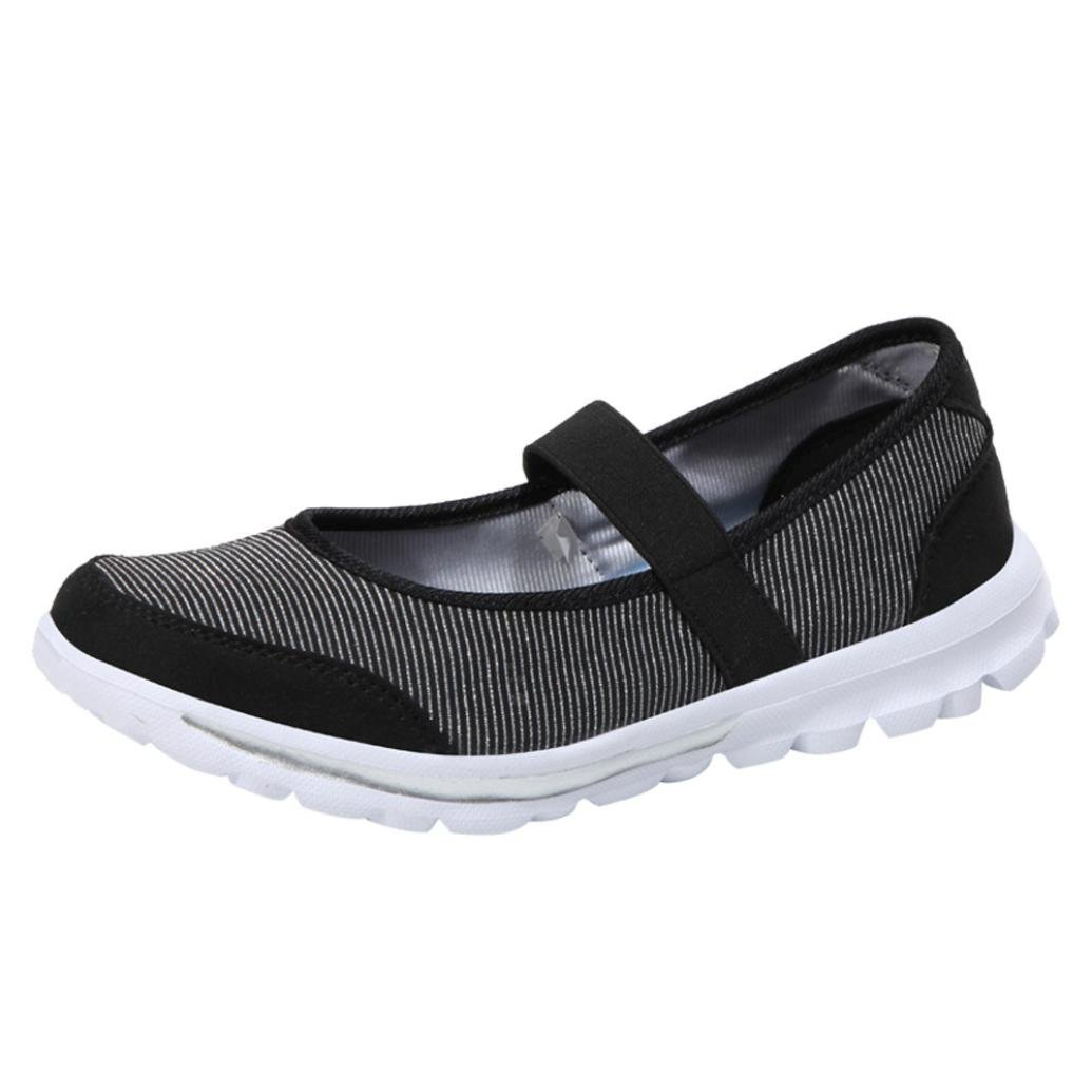 cdae40c4a5a7a Sikye Women's Slip-on Sneakers Mesh Running Shoe Breathable Casual Fitness  Shoes Mary Jane