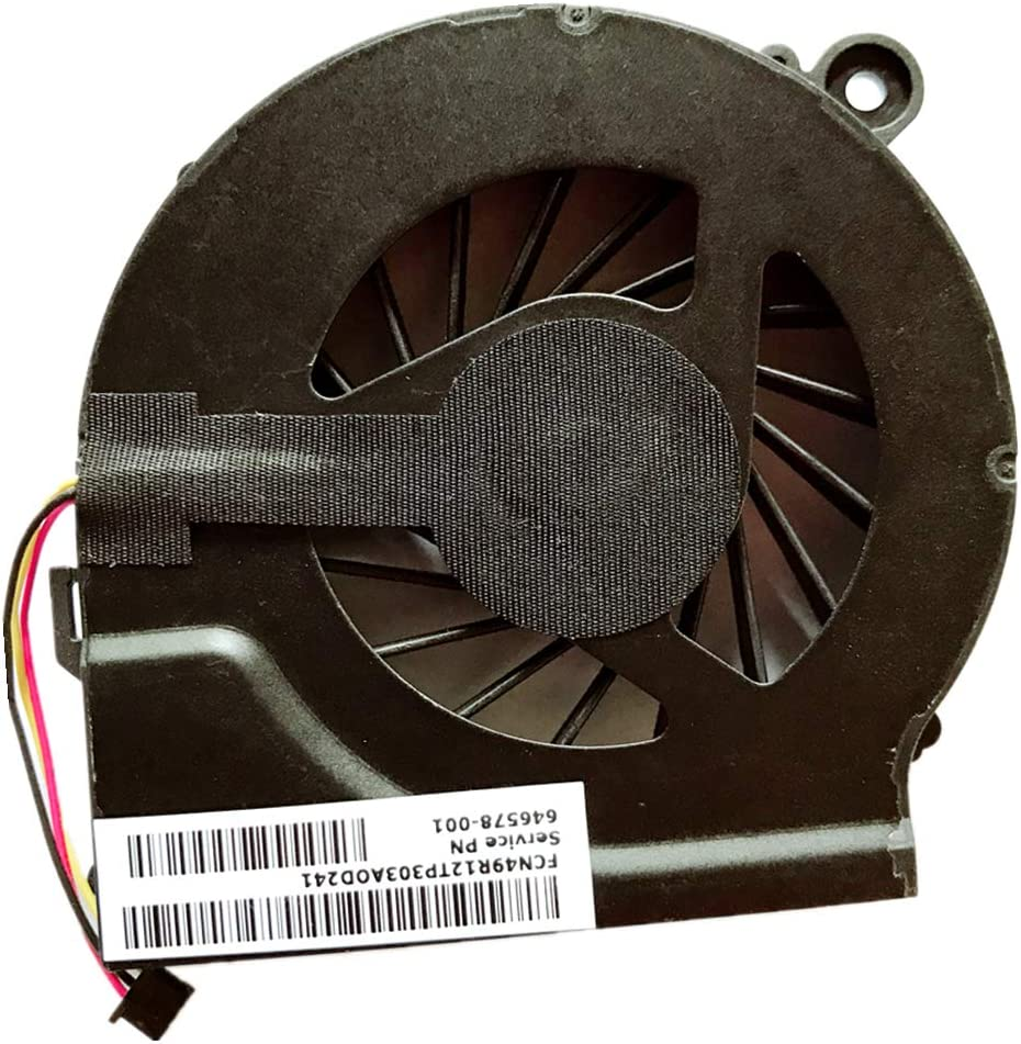 RJUNGXY Replacement Compatible Laptop CPU Cooling Fan Cooler for HP Pavilion G7-1000 G6-1000 G4-1000 646578-001 HSTNN-Q72C HSTNN-q73c Compaq CQ42 CQ62 CQ56 CQ56z G62 G42 Presario 3 Pin 3 Wire