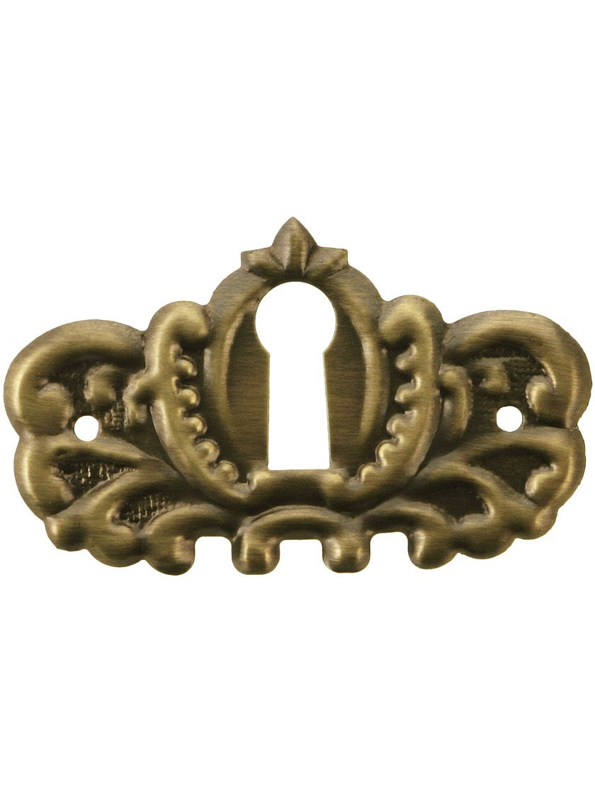 Amazon.com St&ed Brass Keyhole Cover With Antique-By-Hand Finish Home Improvement  sc 1 st  Amazon.com & Amazon.com: Stamped Brass Keyhole Cover With Antique-By-Hand Finish ...