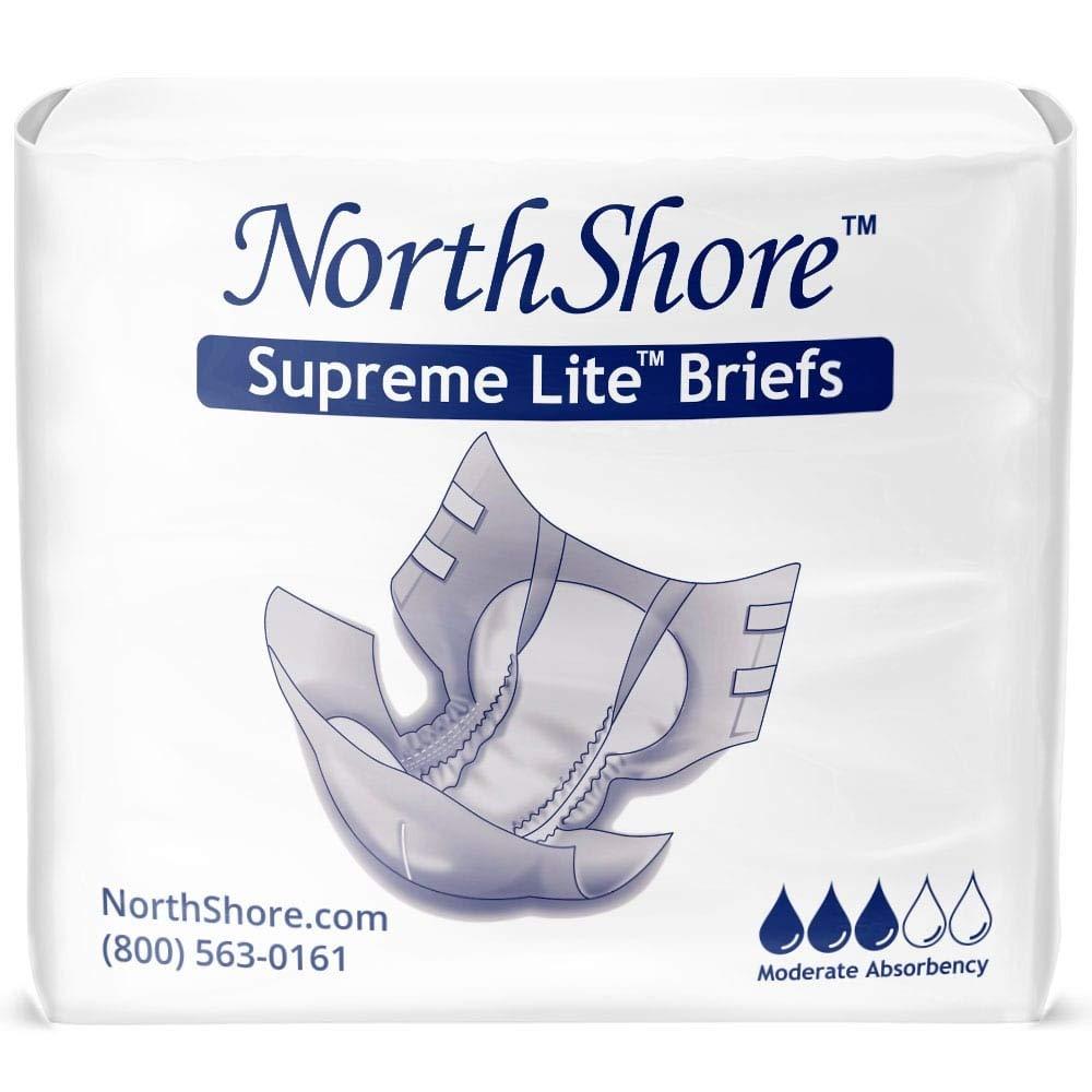 Northshore Supreme Lite Tab-Style Briefs, Large, Case/60 (4/15s)