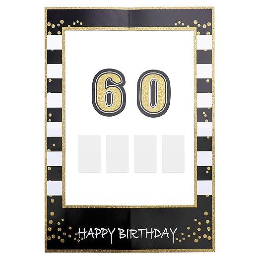 Amosfun Fiesta de cumpleaños Selfie Marco para Fotos 60 años ...