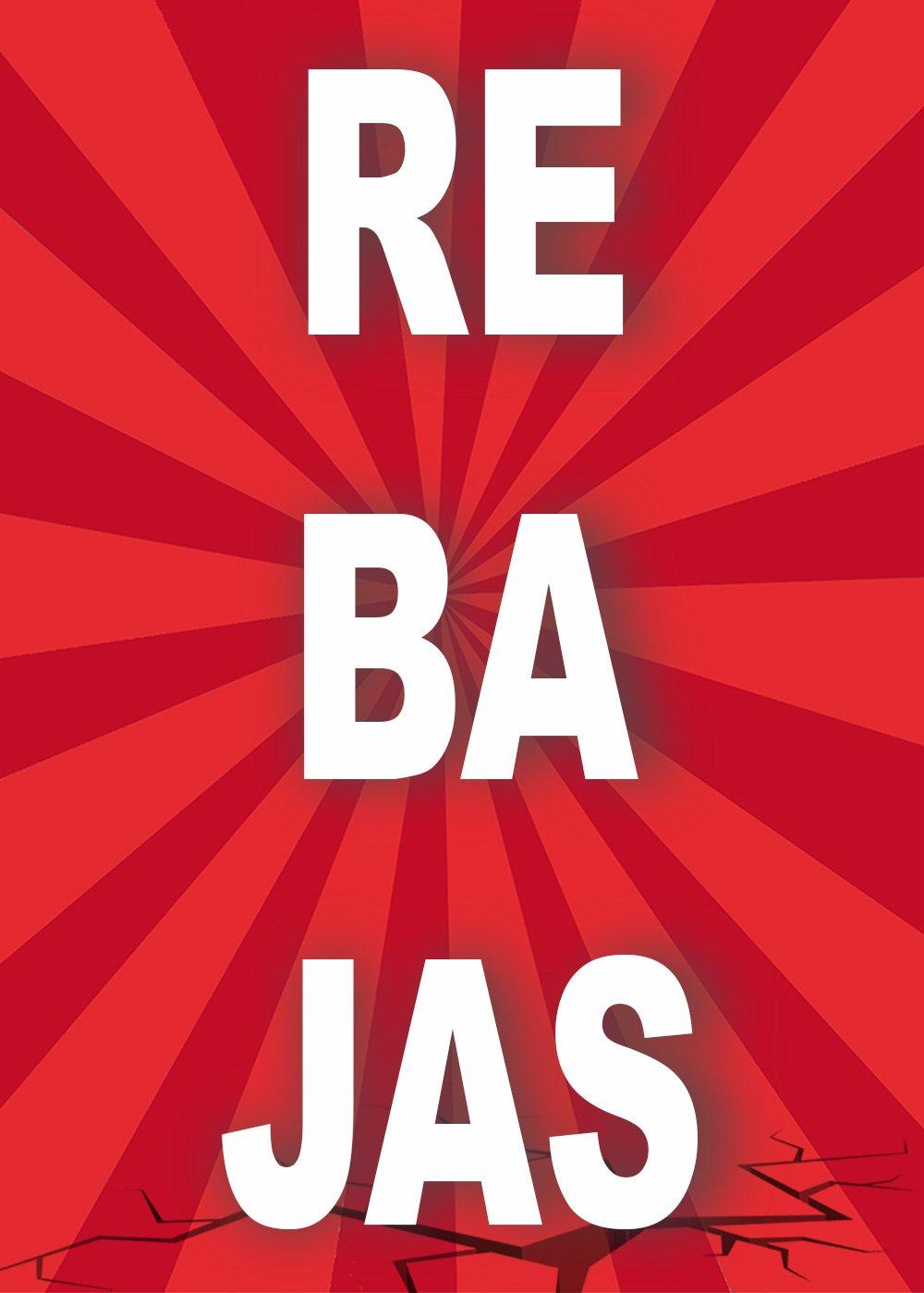 Cartel Rebajas | Varias medidas 25 cm x 35 cm | Cartel publicitario Rebajas | Cartel Oferta Rebajas | Cartel oportunidad Rebajas Oedim